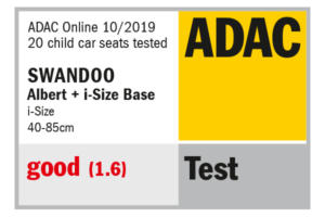 ADAC label shows result 1.6 Swandoo Albert i-Size