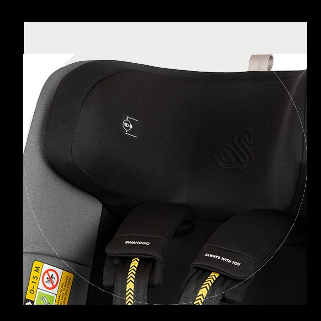Eye-level indicator on Marie 3's headrest | Swandoo