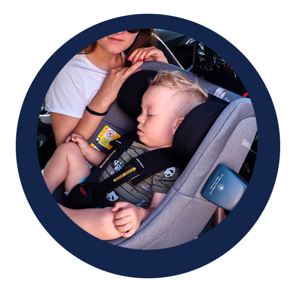 Swandoo's rotating car seat, Marie, achieved a five-star safety performance in rear-facing position