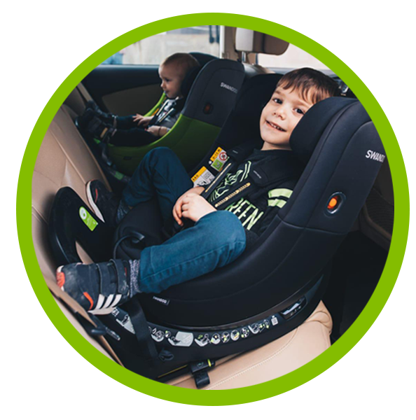 Swandoo's Marie achieved a five star safety rating in rear-facing position by ADAC